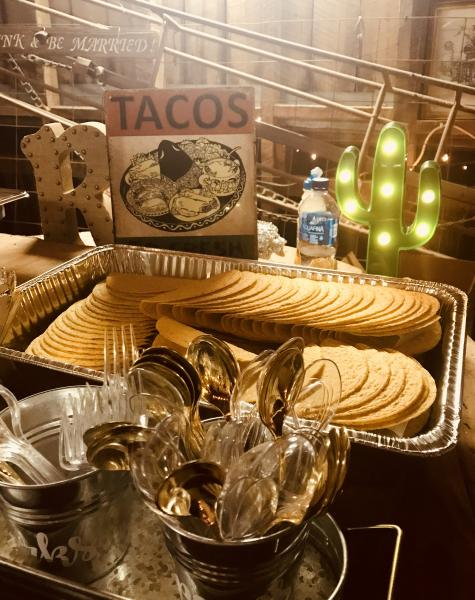 [Image: Fresh, authentic and delicious, our all inclusive Taco bar Buffet has been very popular with our Wedding Couples]