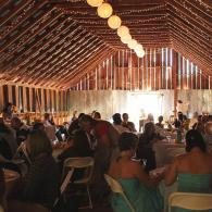 Reception and Barn Weddings all in the same space.