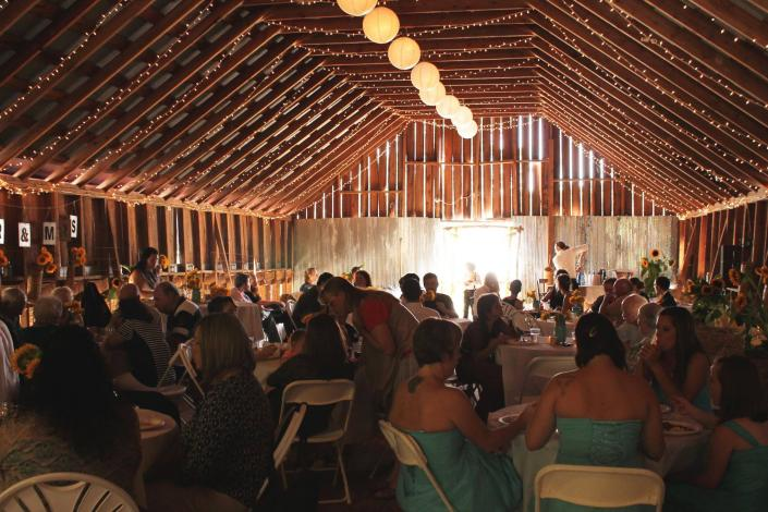 [Image: Reception and Barn Weddings all in the same space.